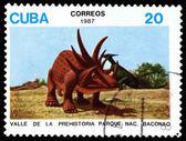Vintage  postage stamp.   Dinosaur.1. — Stock Photo