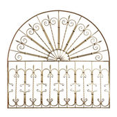 Decorative forged grid . — Stock Photo