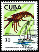 Vintage  postage stamp. Lobster. — Stock Photo