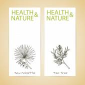 Banner Set - Health and Nature — Stock Vector