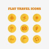 Flat icons collection. Vector illustration — Wektor stockowy
