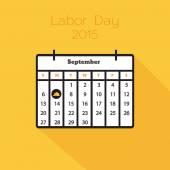 Flat holiday calendar icon — Stock Vector