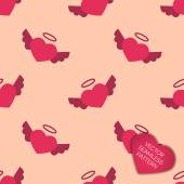 Happy Valentines day collection background — Vector de stock