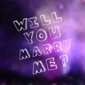 Poster template for marriage proposal design — Stock Vector