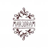 Herbs and Spices Collection - Marjoram — Stock Vector