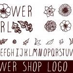 Постер, плакат: Logo kit for flower shops
