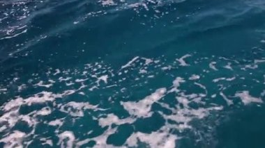 Full frame footage background of Red sea water — Stock Video