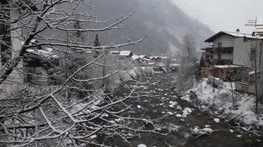 Winter landscape. Mayrhofen, Austria — Stock Video