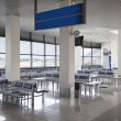 Empty airport waiting hall — Stock Photo #67405347