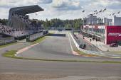 Stadium filled with people in Moscow Raceway — Stock Photo