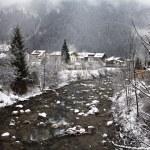 Ziller river in winter. Mayrhofen, Austria — Stock Photo #68686767