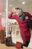 Woman Window Shopper — Stock Photo