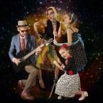 Rockabilly family band — Stock Photo #71330155