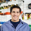 Male Customer Smiling In Hardware Shop — Stock Photo #54522909