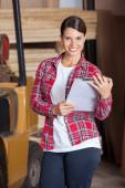 Confident Supervisor Holding Clipboard — Stock Photo