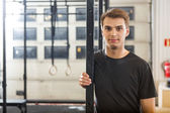 Confident Male Athlete Standing At Healthclub — Stock fotografie