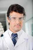 Confident Scientist In Protective Eyewear — Stock Photo