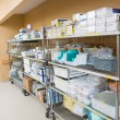 Hospital Supplies Arranged On Trollies — Stock Photo #55753743