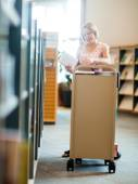 Librarian Working In Library — Stock Photo