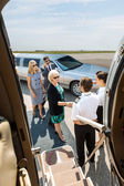 Business People About To Board Private Jet — Stock Photo