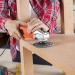 Carpenter Using Sander On Wood — Stock Photo #55939223
