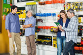 Customers In Hardware Store — Stock Photo
