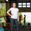 Fit Woman Standing — Stock Photo #56240815