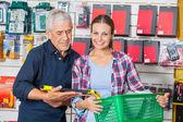 Customer With Worker In Hardware Shop — Foto de Stock