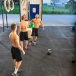 Athletes At Cross Training Gym — Stok fotoğraf #58505387