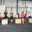 Постер, плакат: Athletes In Box Jumping Class