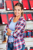 Confident Female Customer In Hardware Store — Stock Photo