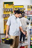 Customers Buying Tools In Store — Stock Photo