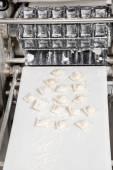 Ravioli Pasta On Automated Machine — Stock Photo