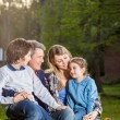 Family Spending Quality Time At Campsite — Stock Photo #70960757
