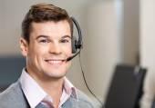 Confident Customer Service Representative In Office — Stock Photo