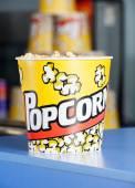 Popcorn On Cinema Concession Counter — Stock Photo
