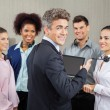 Happy Manager In Meeting With Customer Service Representatives — Stock Photo #72036057