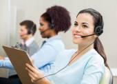 Thoughtful Female Customer Service Representative In Office — Stock Photo