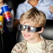 Happy Boy Watching 3D Movie At Theater — Stock Photo #74977659