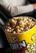 Popcorn Bucket In Cinema Theater — Stock Photo