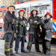 Confident Firefighters Standing Arms Crossed — Stock Photo #80608186