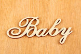 Baby wooden words — Stock Photo
