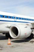 Airplane Turbine — Stock Photo