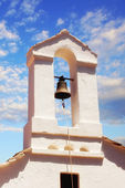 Bell tower detail of a church in Skopelos Town — ストック写真