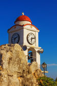 Bell tower detail of a church in Skiathos Town — Stock Photo