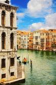 The Grand Canal, Venice, as seen from Rialto Bridge — Stock Photo