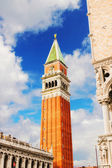 Campanile and Doge's palace on Saint Marco square, Venice, Italy — Stock Photo