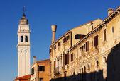 The bell tower of San Giorgio dei Greci church, Venice, Italy — Stock Photo