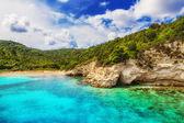 Voutoumi beach, Antipaxos island, Greece — 图库照片