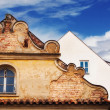 Details of Prague architecture - old facade and window — Stock Photo #74594951